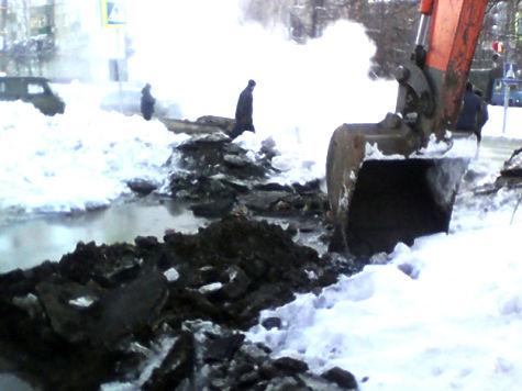 ВЧебоксарах из-заЧП натеплотрассе без тепла остались 39 домов