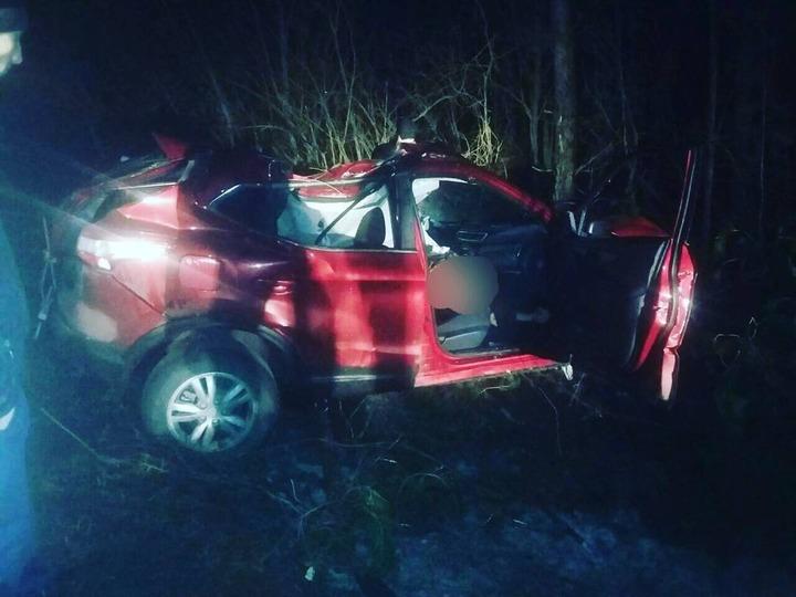 ВБатыревском районе шофёр «Ниссан Кошкай» разбился, врезавшись вдерево