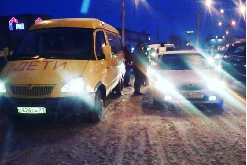 ДТП вЧебоксарах: в ученическом автобусе находилось 11 детей